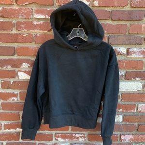 Tops - Semi-Cropped Hoodie black M